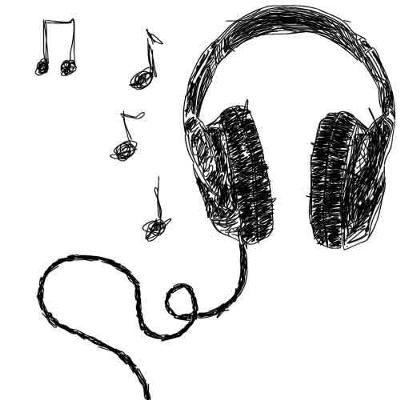 Drawn headphones simple And more little 210 this