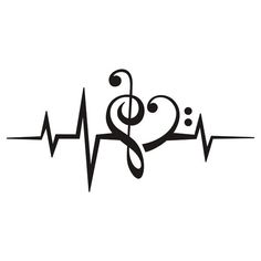 Drawn musician heart Sticker MUSIC Classic Notes HEART