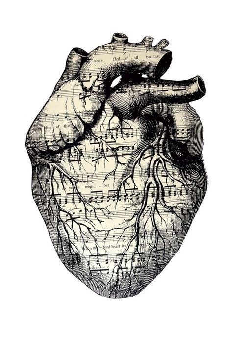 Drawn music heart Images about Music best more