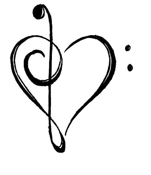 Drawn musician heart  Pinterest The 25+ ideas