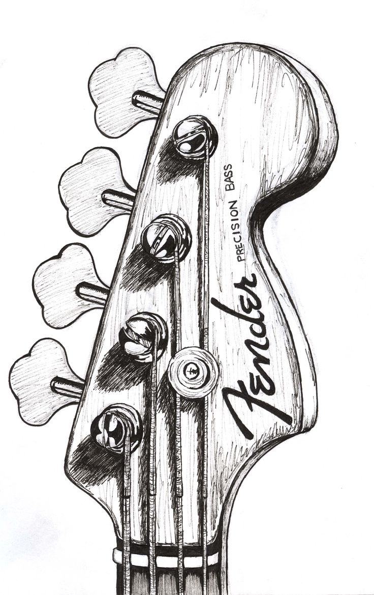 Drawn music leda Images bass guitar Pinterest best