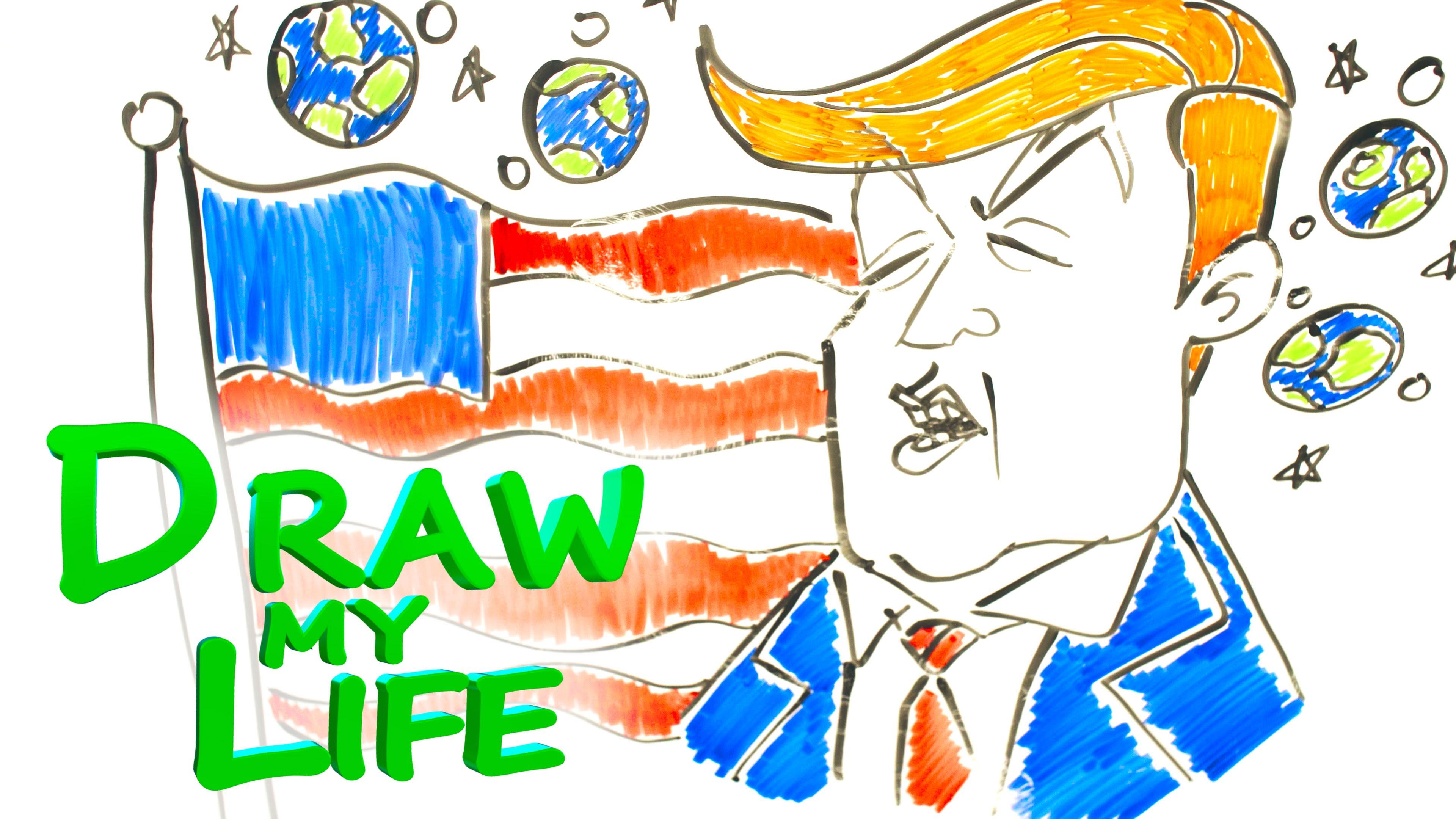 Drawn music line drawing YouTube LIFE MY MY Trump