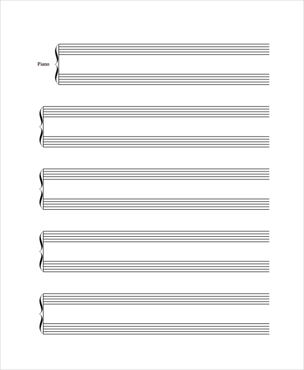 Drawn music lined paper Paper Lined PDF Sample Documents