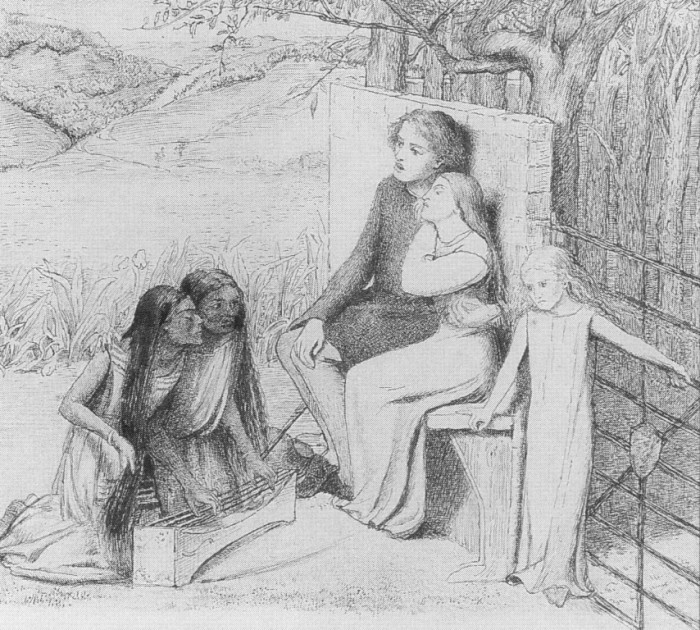 Drawn music lover To LizzieSiddal and Lovers Elizabeth
