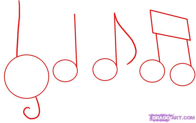 Drawn music score Draw music Step Notes 1