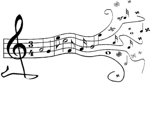 Drawn music notes animated Clip free Notes to music