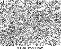 Drawn music notes back to school Vector Notes Vector of Sketchy