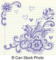 Drawn music notes back to school Doodle to Vectors of to
