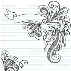 Drawn music notes back to school With Music Swirls With