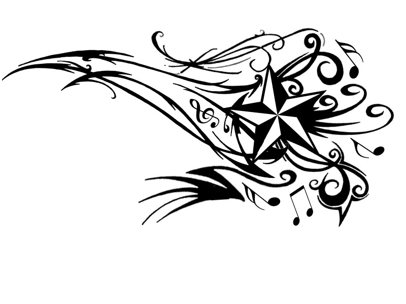 Drawn music notes band  notes designs tattoo Music