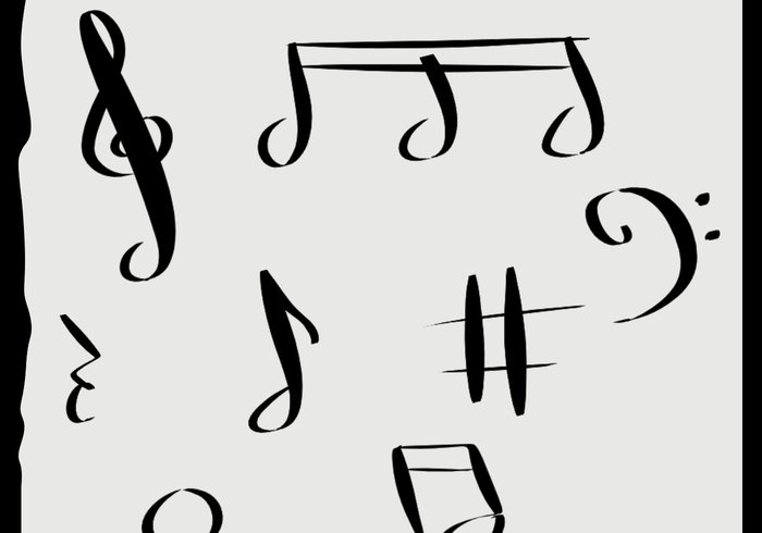 Drawn music swirl At Brushes Musical Free Notes