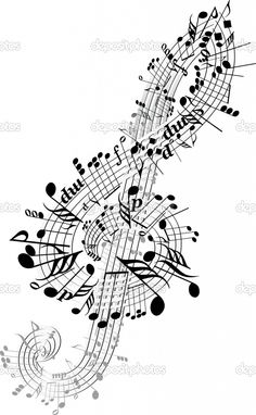 Drawn music notes beautiful music Many free Notes ideas ·