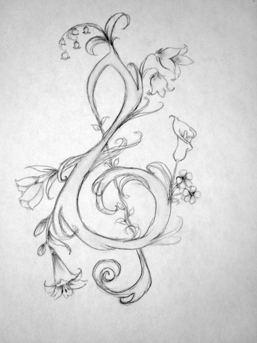 Drawn music notes beautiful music How Zentangle to on tattoos!