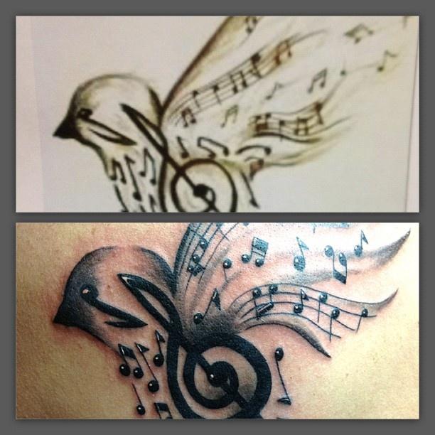 Drawn music notes bird Love Bird Orlando Pinterest by