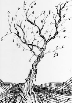 Drawn music notes bird Music Acuarela this Galliers a