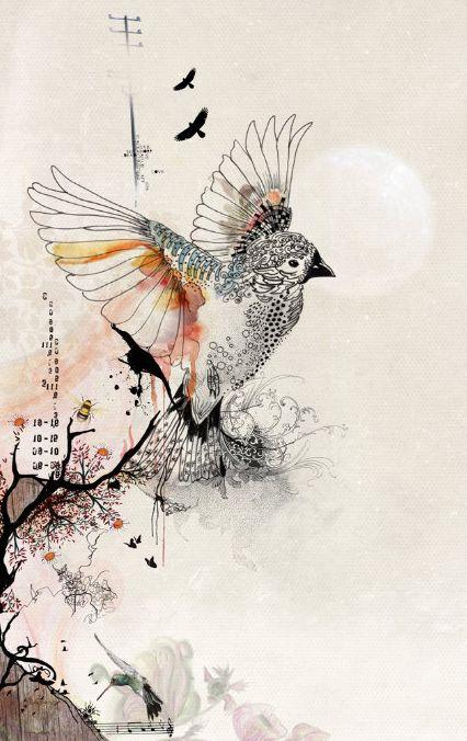 Drawn music notes bird Have Best guitar my bird
