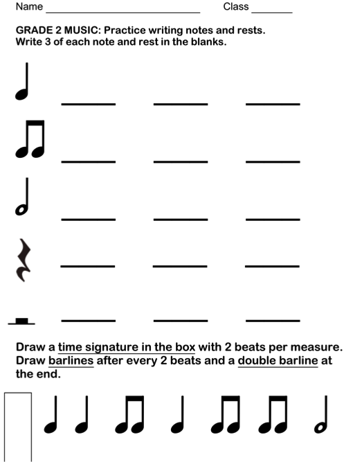 Drawn music notes blank Centers music : sheet