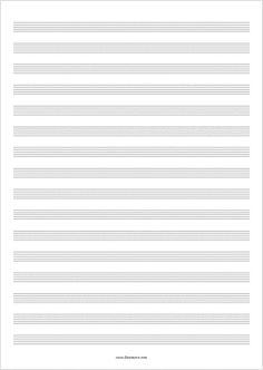 Drawn music notes blank Free Sheet sheet Blank music
