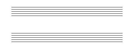 Drawn music notes blank Wireframe and and Sketching Template
