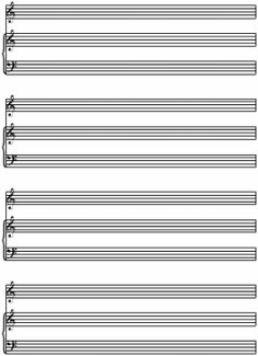 Drawn music notes blank Piano music music sheet Pinterest