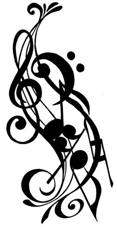 Drawn music notes calligraphy Of my body art Drawings