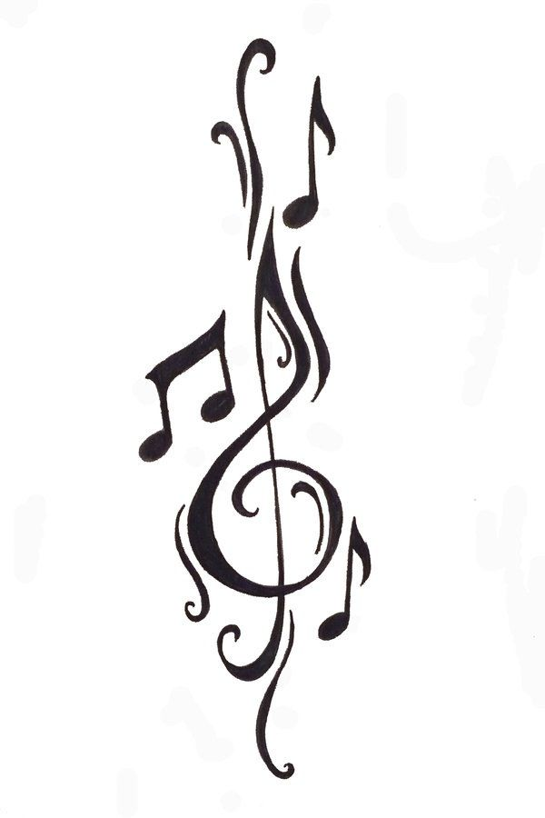 Drawn music notes calligraphy Music Cleft Best 25+ art