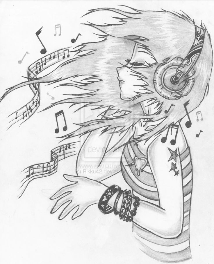 Drawn ponytail tumblr music The Let deviantART by ♫