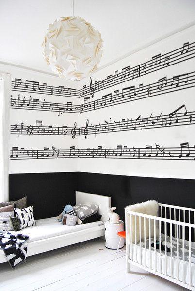 Drawn music notes child Wallpaper Not bedroom Pinterest I