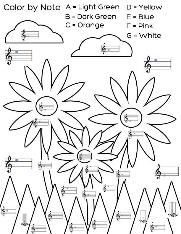 Drawn music notes child Welcome worksheet flower worksheet An