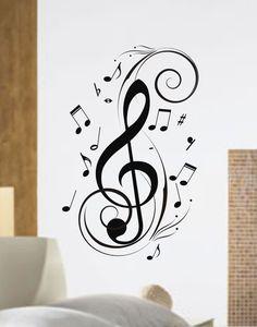 Drawn music notes child Boy music cards Sticker Pinterest