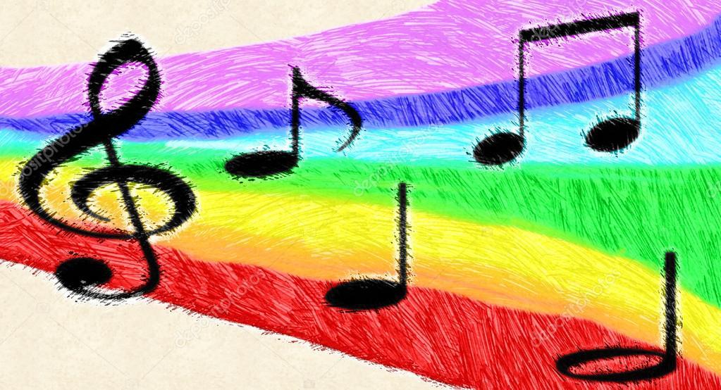 Drawn music notes child Notes #10659853 artshock drawn Photo