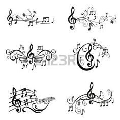 Drawn music notes choir Illustration Dinner of notes Notes