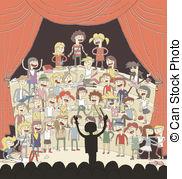 Drawn music notes choir Hand 1 school Illustrations singing