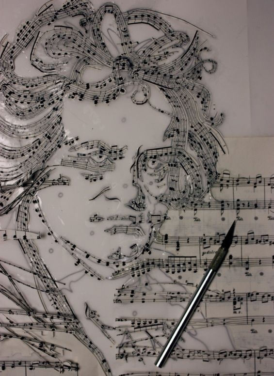 Drawn music notes classic music About Own Beethoven Musical His