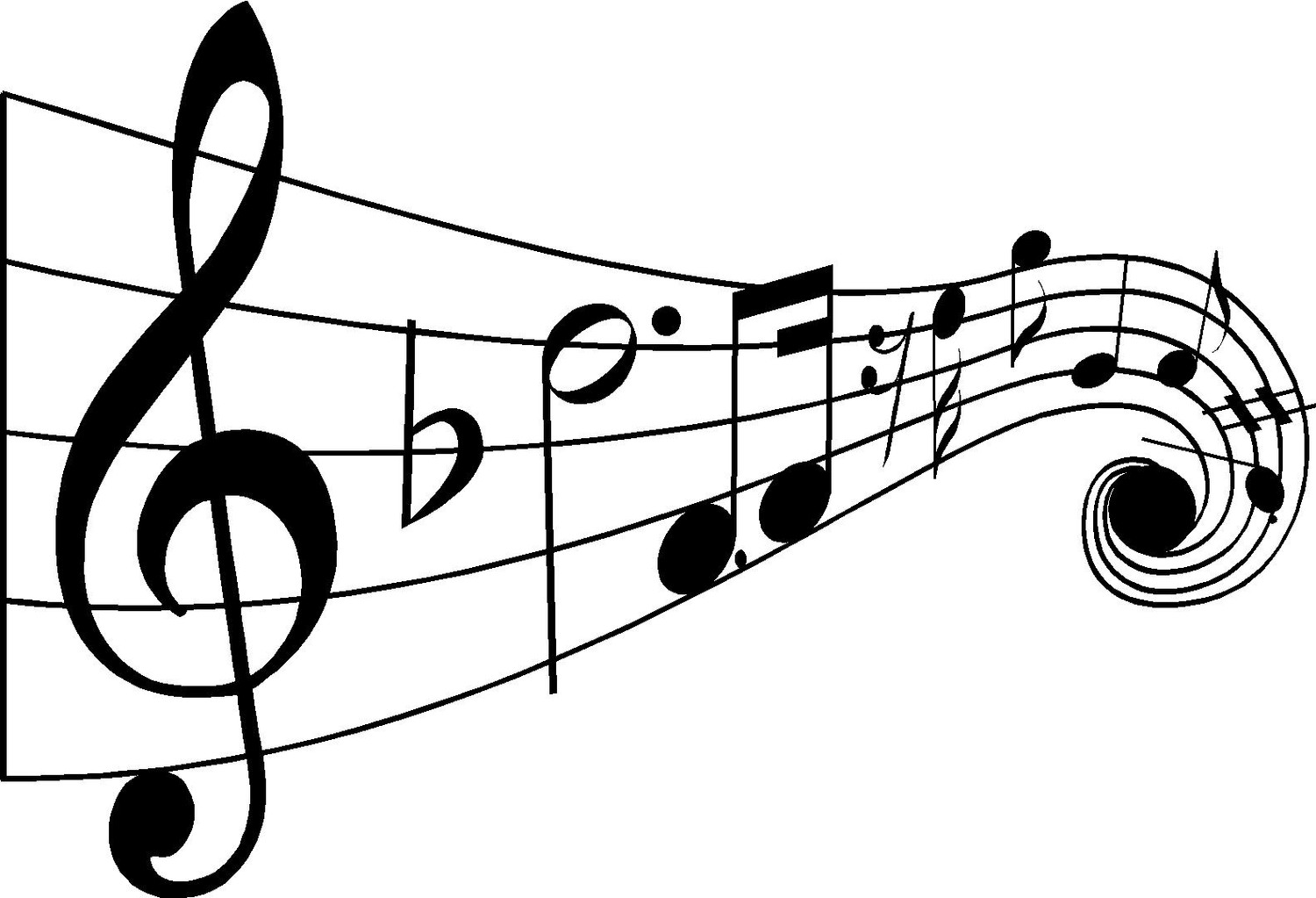 Drawn music notes clipart transparent Drawings  Music Art Images