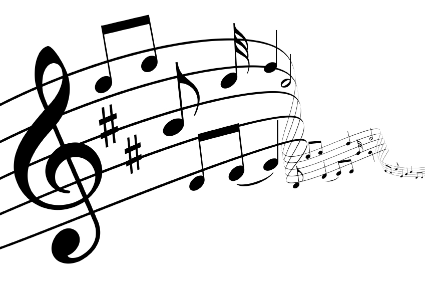 Drawn music notes clipart transparent  Free music%20note%20transparent%20background Panda Background