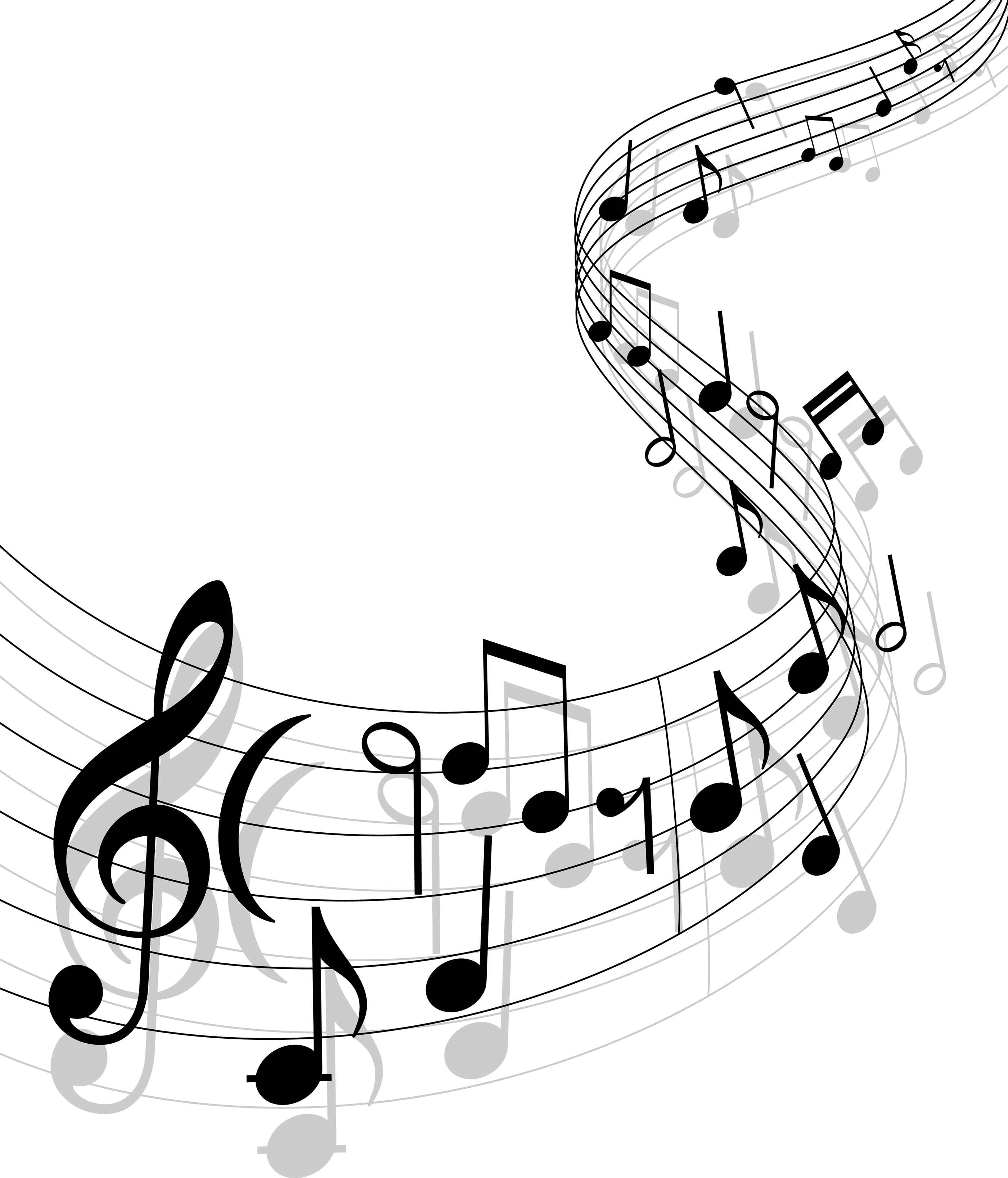 Drawn music notes muscial Clipart Music Art Clip Image