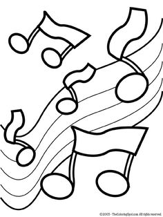 Drawn music notes coloring page Notes Coloring Music Pages Music