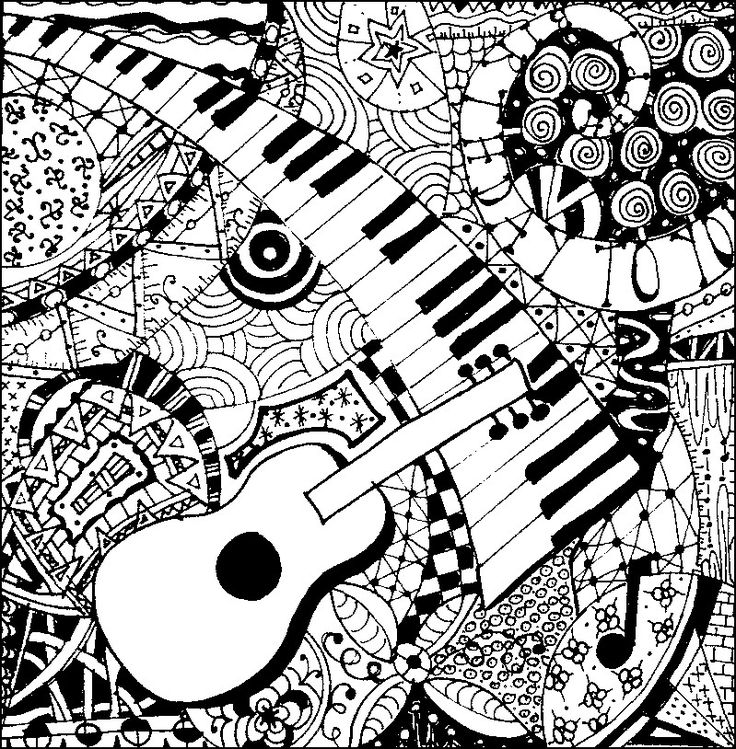 Piano clipart coloring page On best 267 about pages