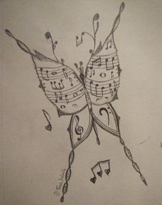 Drawn musician beautiful music Color Occasional Randomness: Instruments Picture