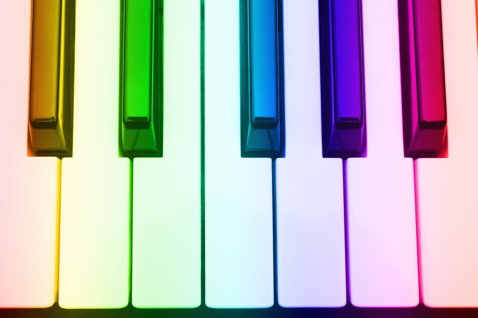 Drawn music notes colour Linking Popular Color Light The