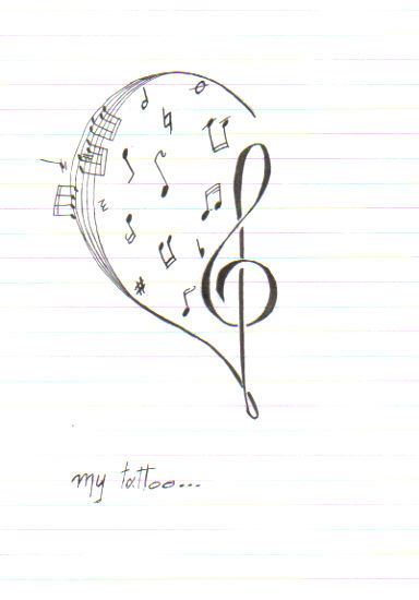 Drawn music notes creative music Clef on ideas music 25+