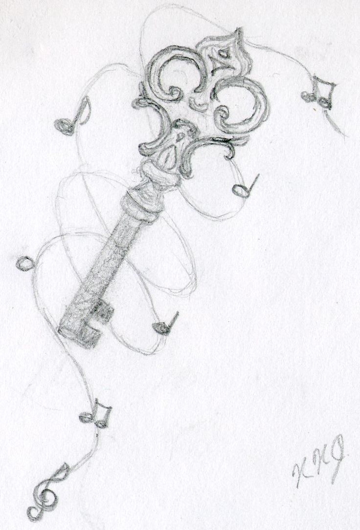Drawn converse music note That of key music Music