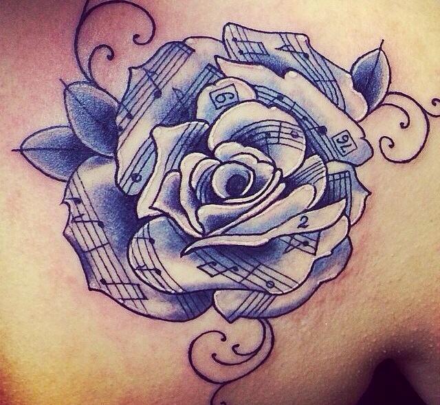 Drawn music notes creative music Rose/flower Music Pinterest rose/flower Music