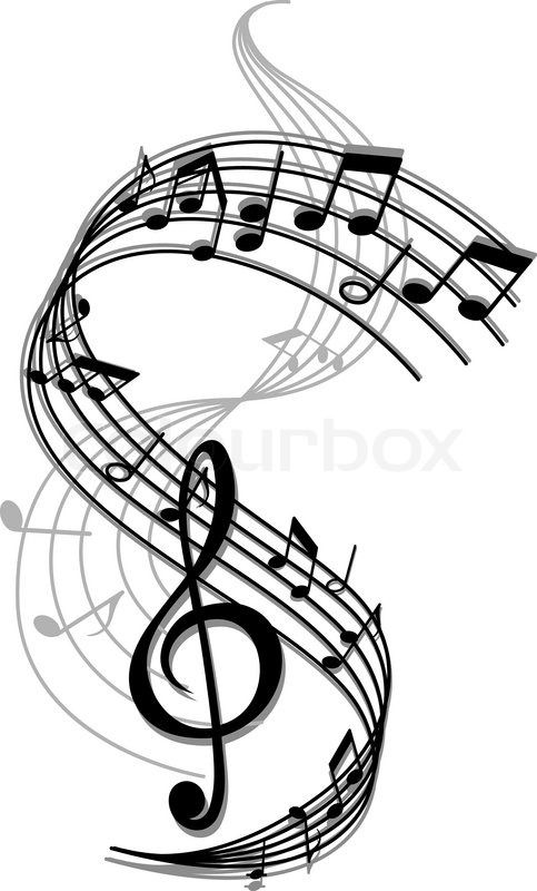 Drawn music notes creative music Of art 25+ notes Best