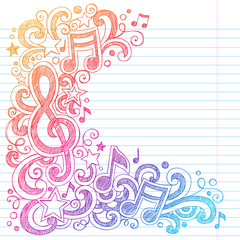 Drawn musician heart Music