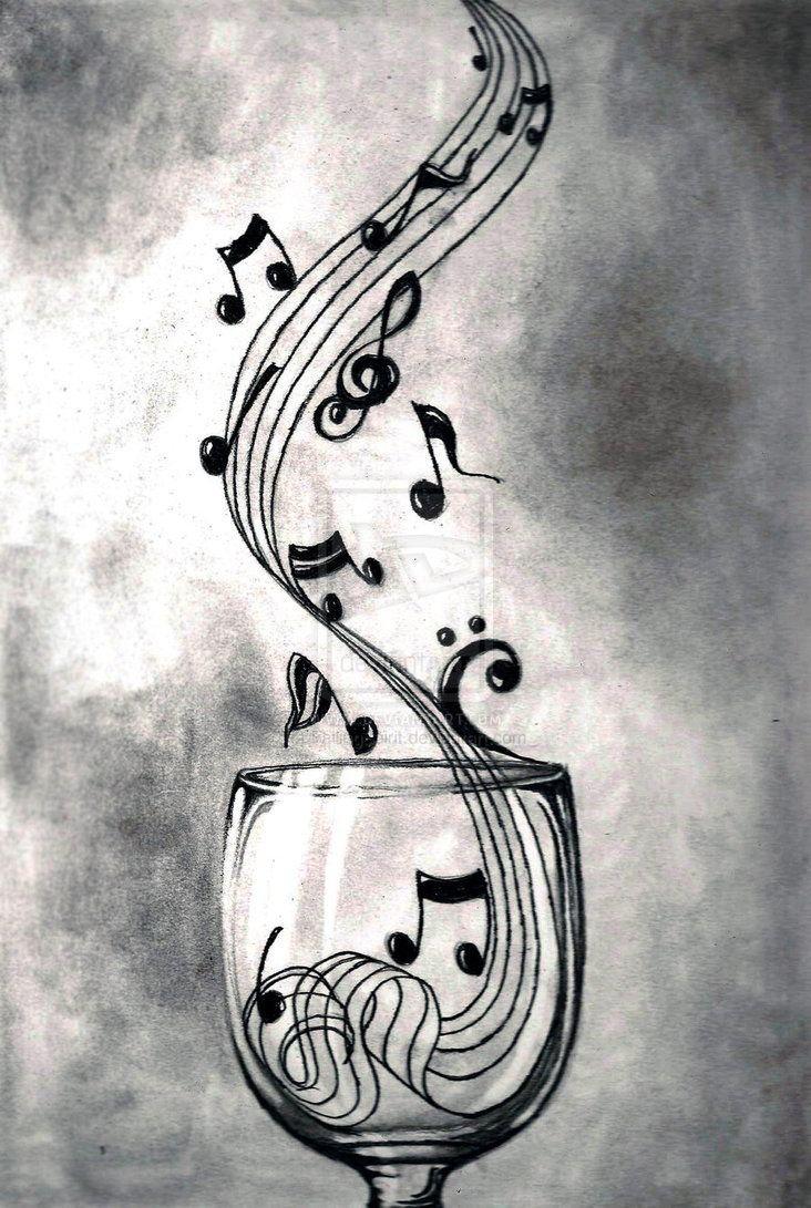 Drawn music notes creative music A Pinterest on Music 25+