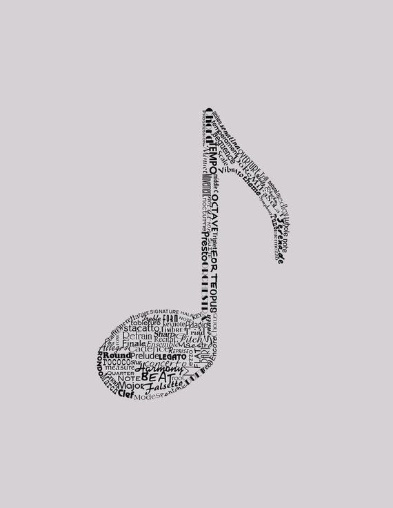 Drawn music notes crochet Gift Gift Custom Illustrated Couple