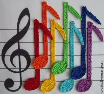 Drawn music notes crochet On Best about Music images