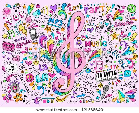 Drawn music notes cute Best Pinterest Hand Notes vector